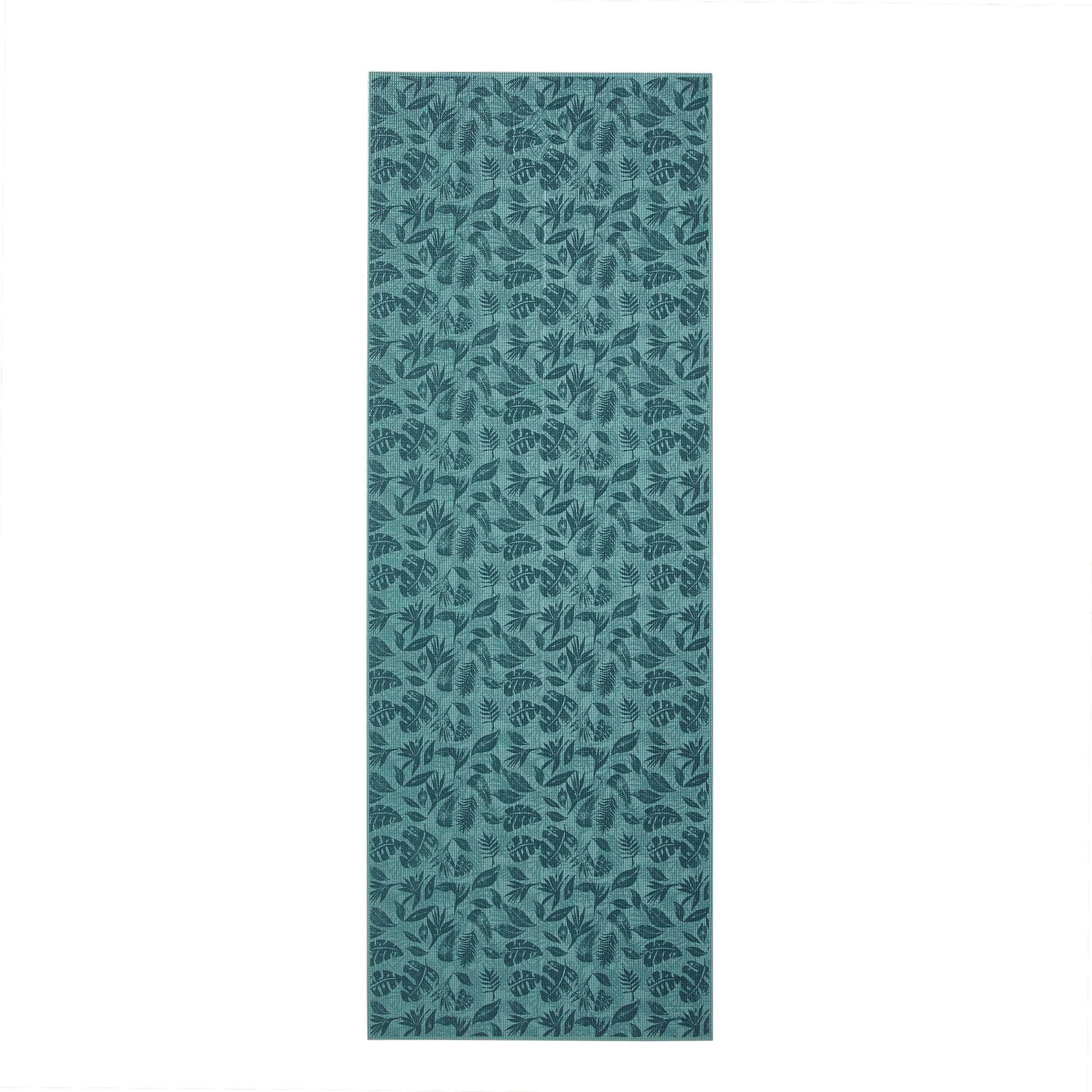 kimjaly tappetino yoga comfort 8 mm verde stampato 173x61cm
