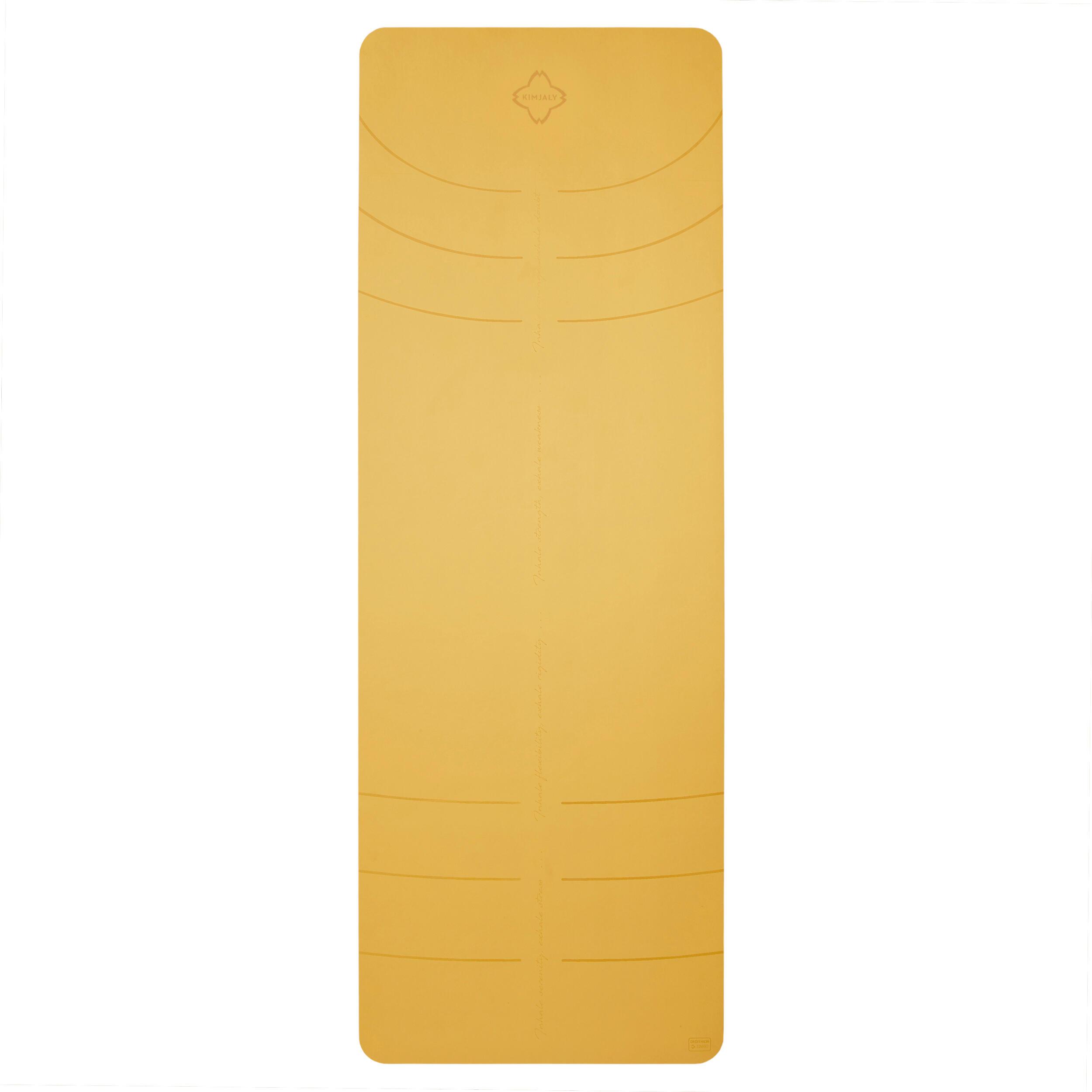 kimjaly tappetino yoga grip+ 3mm giallo