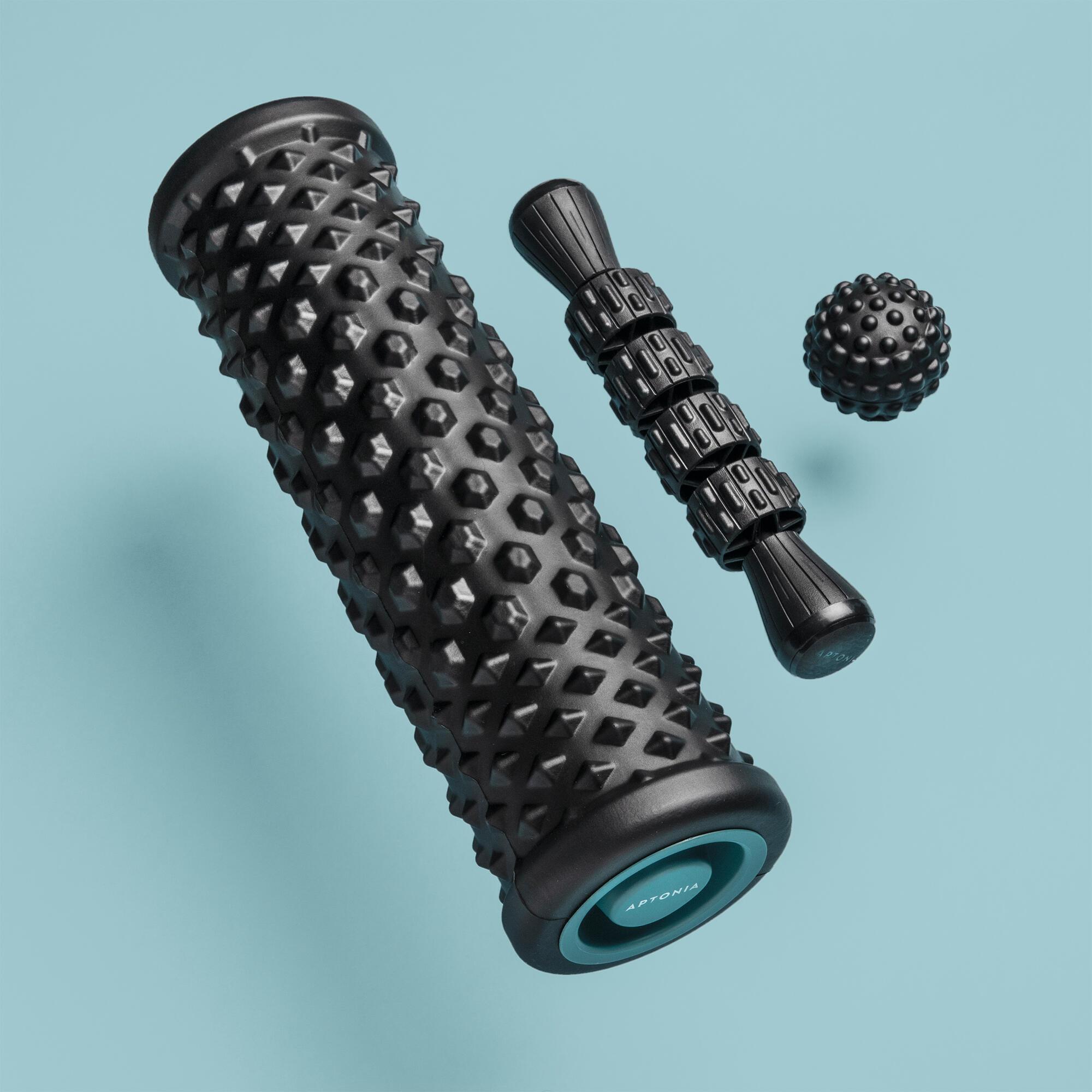 aptonia kit di massaggio: rullo massaggiante/ foam roller, palla, bastone massaggiante