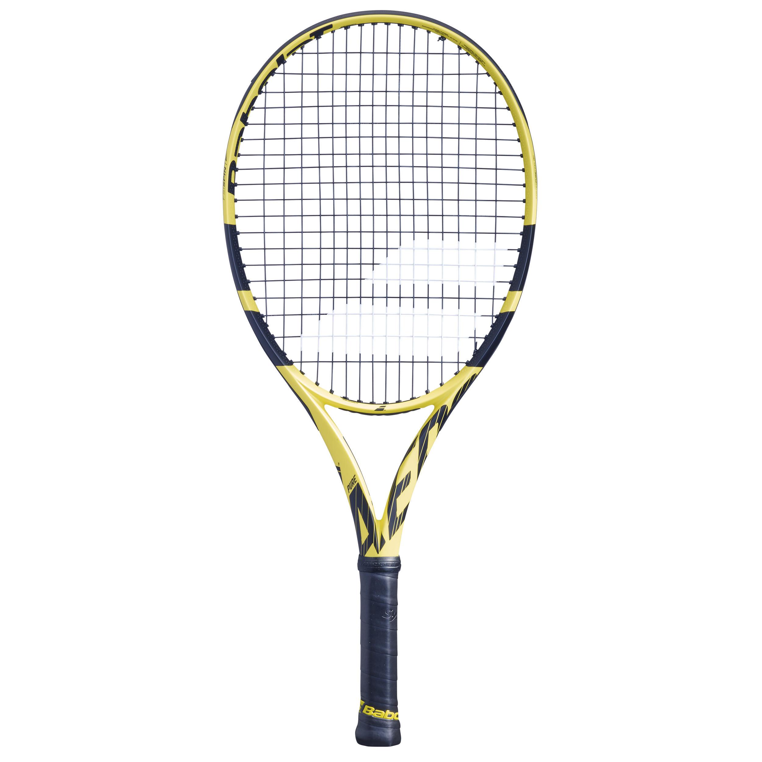 "babolat racchetta tennis junior pure aero 25"" nero-giallo"
