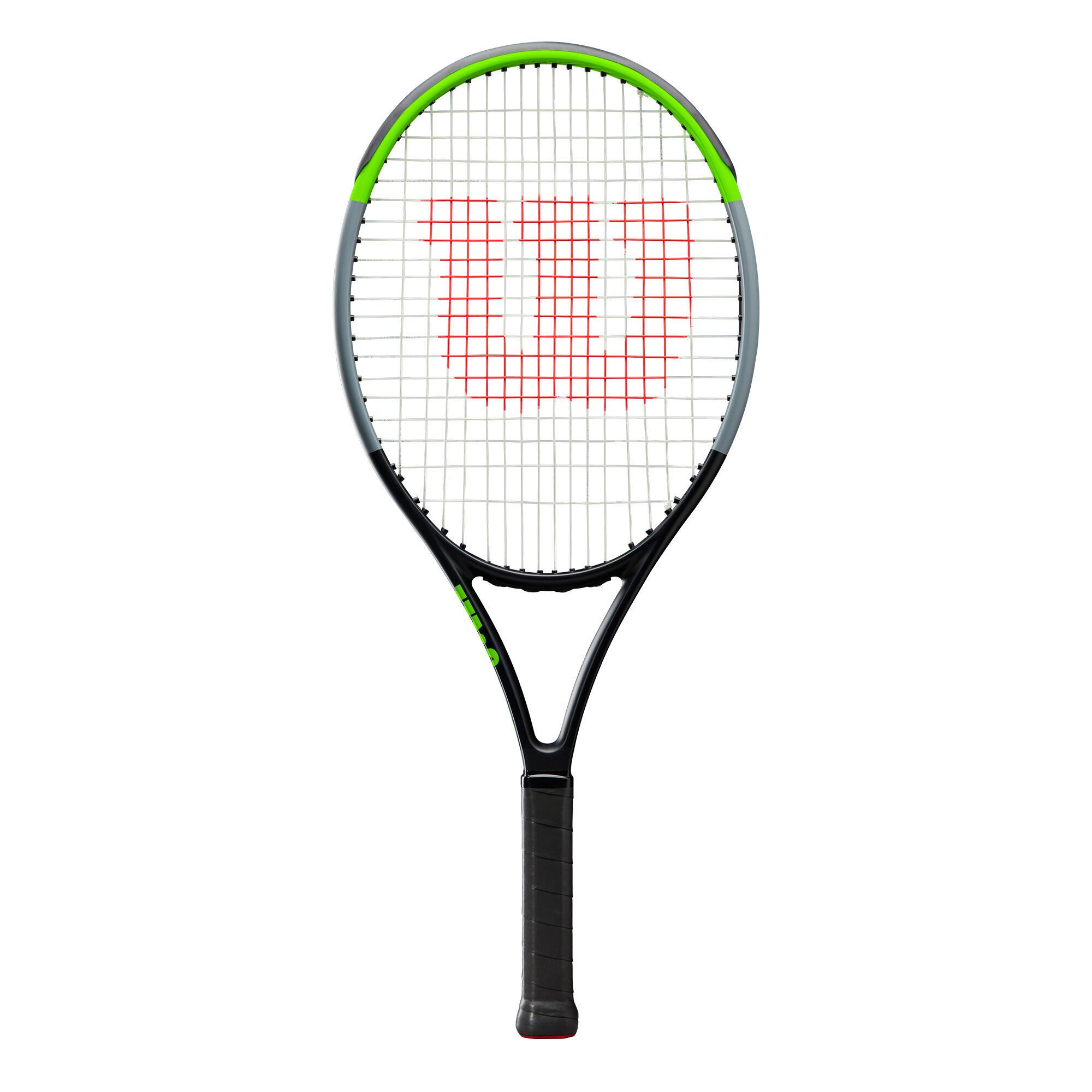 wilson racchetta tennis bambino  blade jr 25 nero-verde