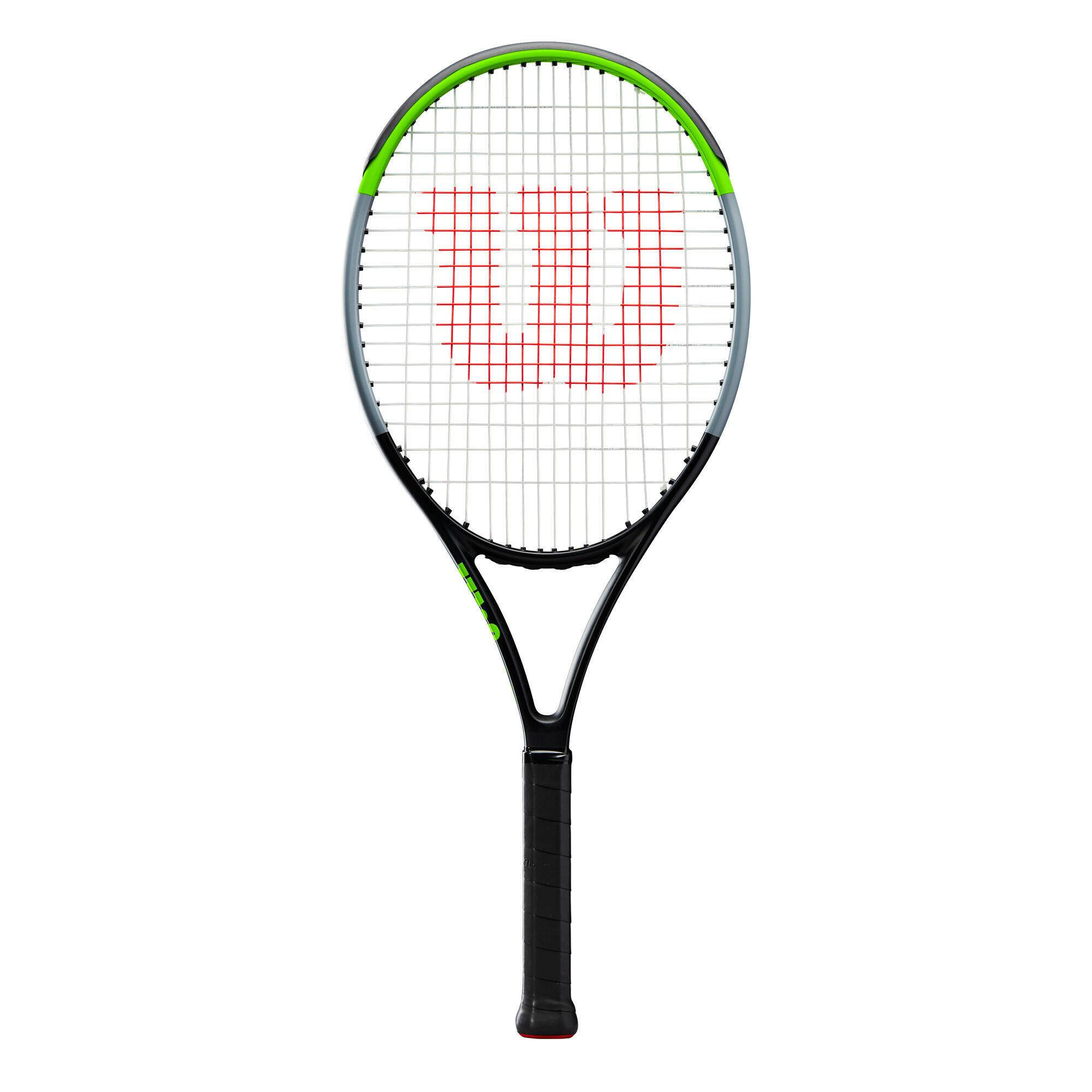 wilson racchetta tennis bambino  blade jr 26 nero-verde