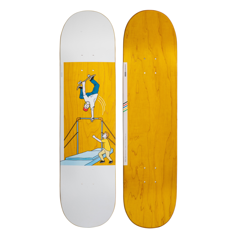 """oxelo skateboard deck 120 bruce 8"""" giallo"""