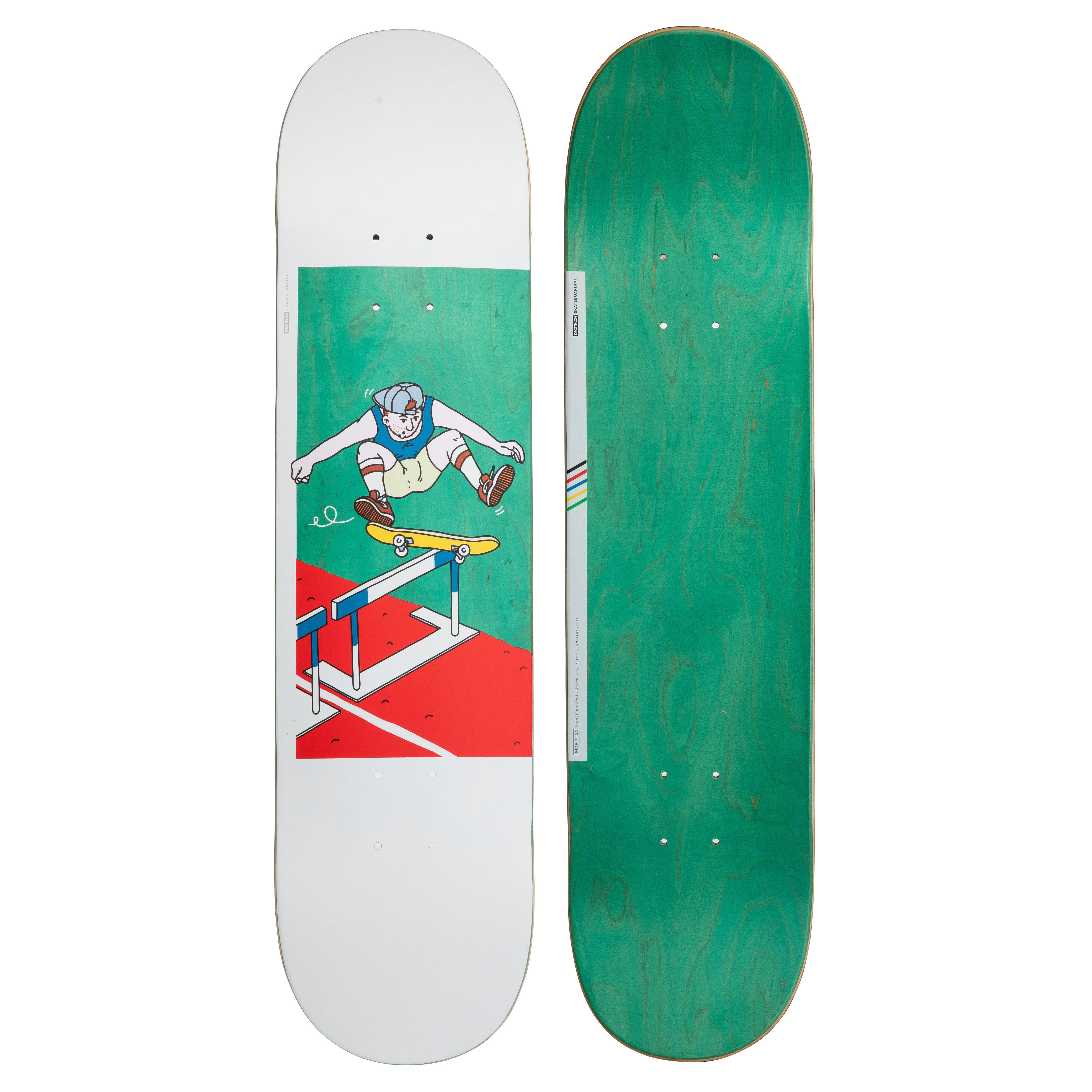 oxelo skateboard deck 120 bruce 7.75 verde