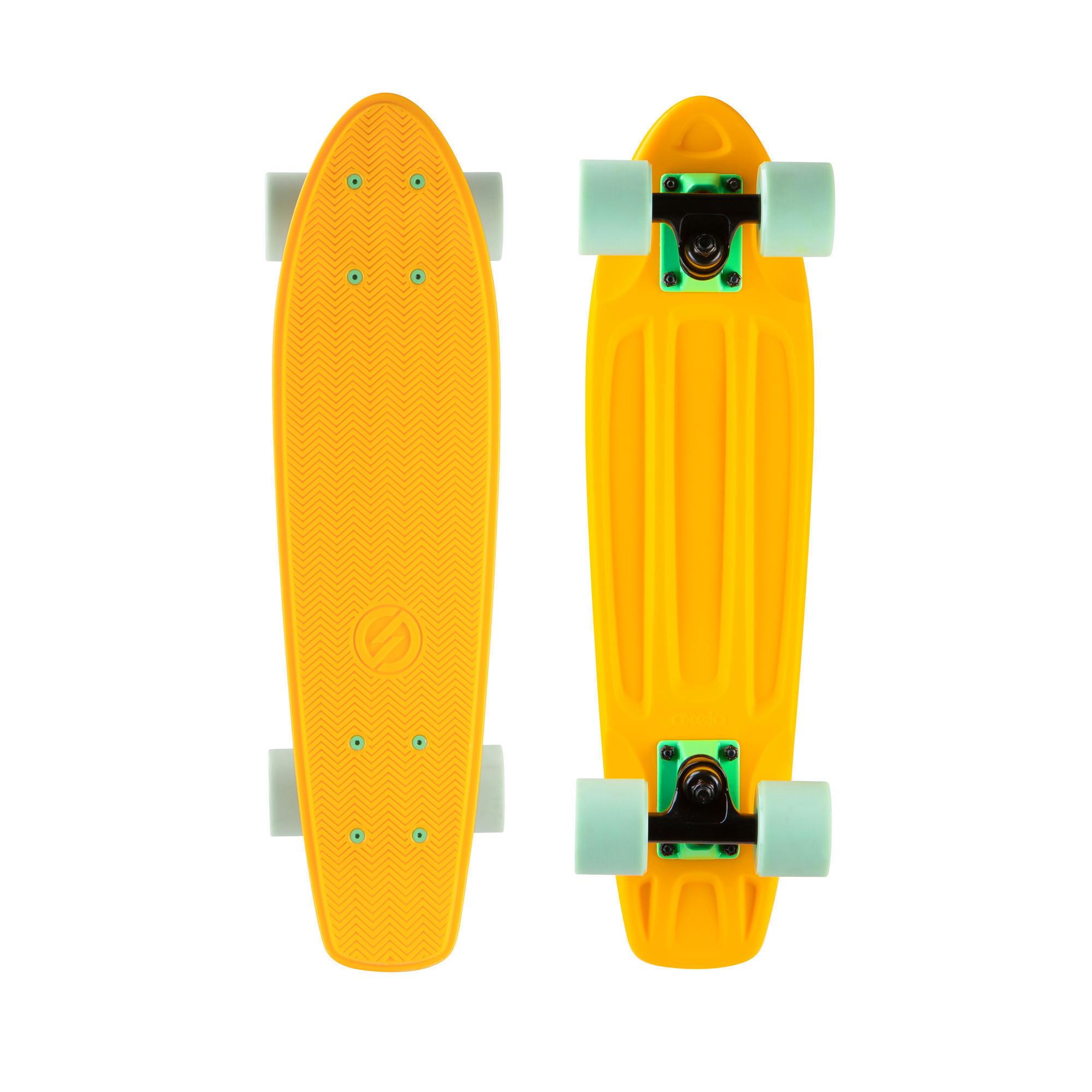oxelo cruiser skateboard yamba 100 giallo-verde