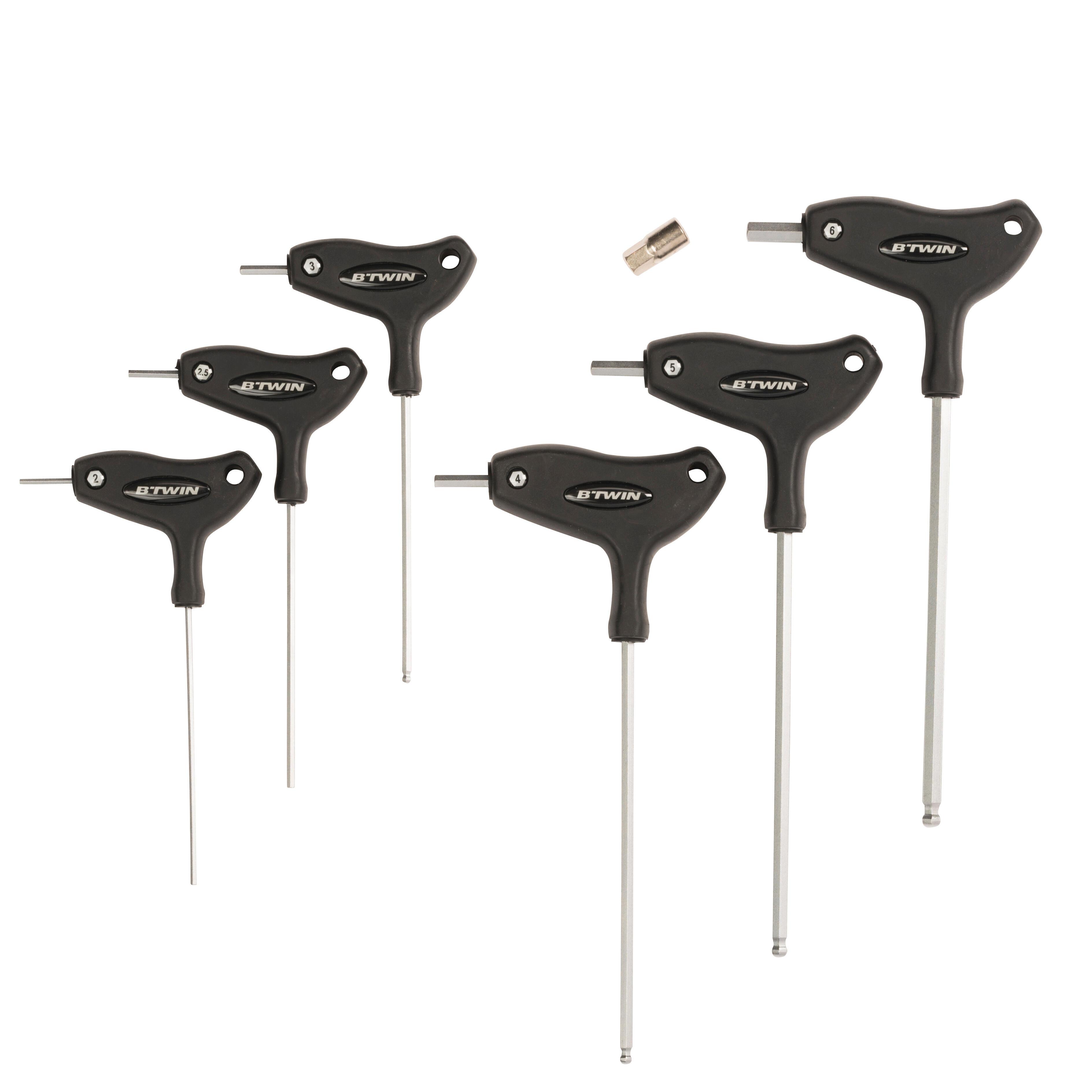 Decathlon Serie 6 chiavi allen + adattatore 8mm