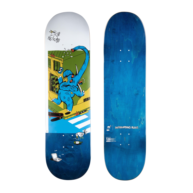 "OXELO Tavola skate acero DK120 T KNUTS - Skateboarding Rules 8.25"""