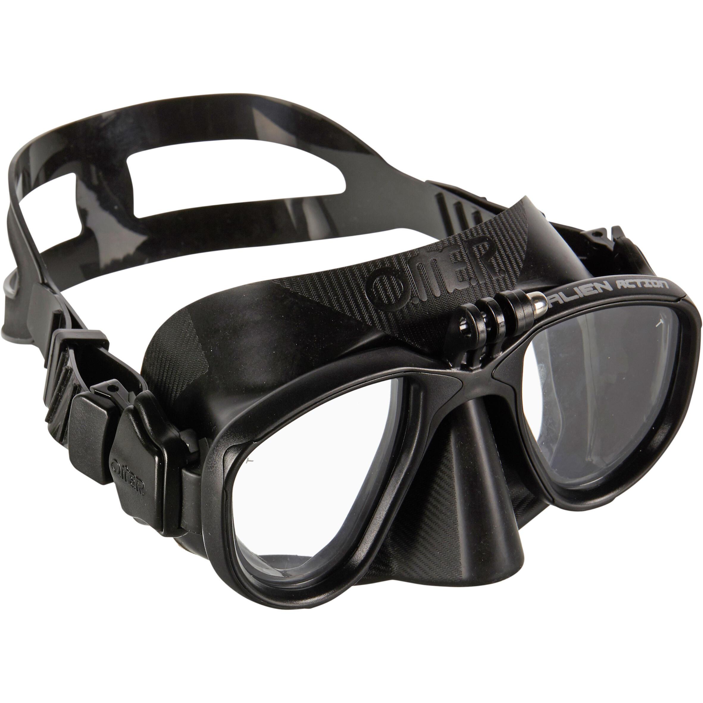 omer maschera pesca subacquea alien action cam