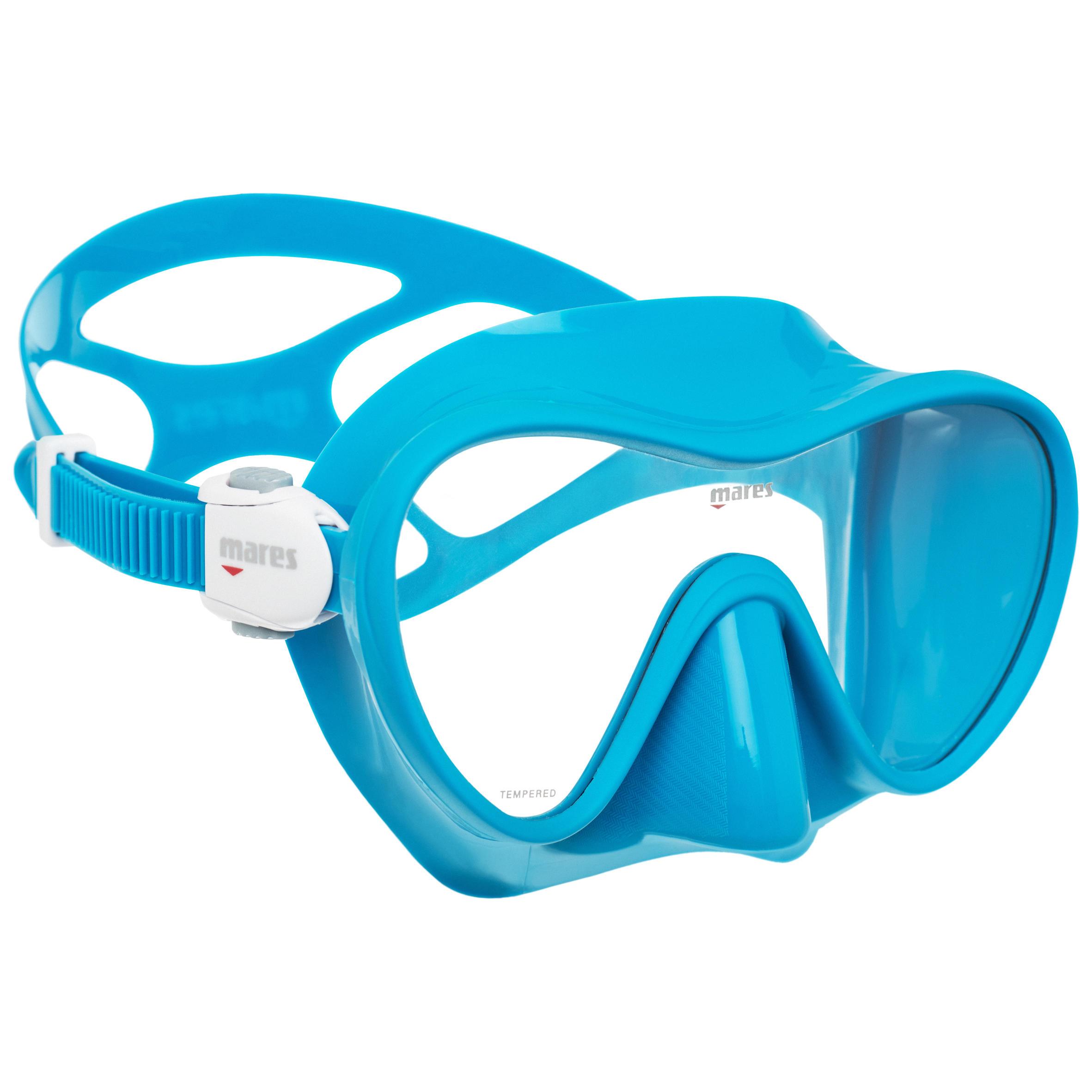 mares maschera subacquea tropical azzurra