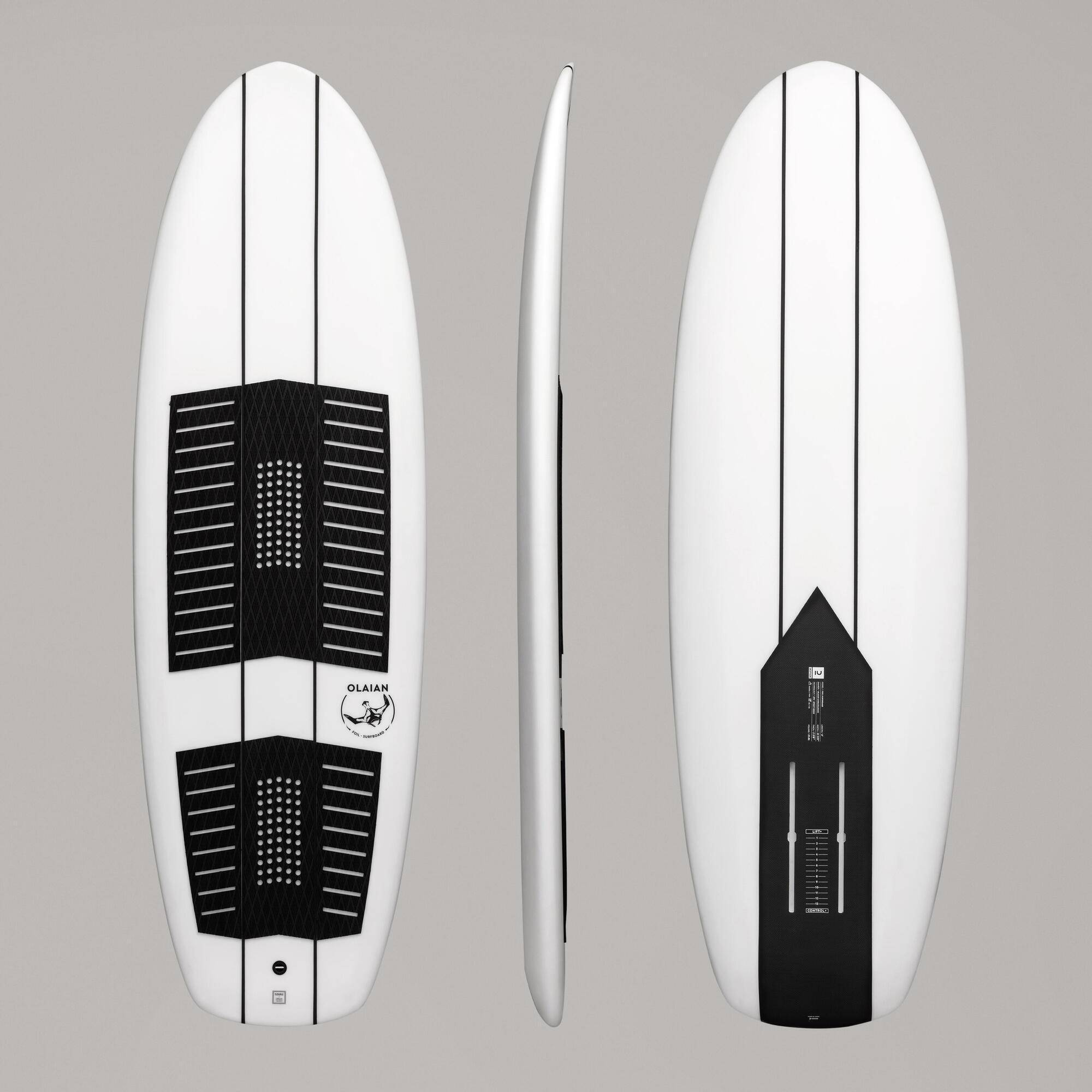 olaian tavola surf foil 500 6' bianco-nero