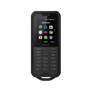 "Nokia 800 Tough Telefono Cellulare 4G Dual Sim, Display 2.4"" a Colori, 4GB, Resistenza IP68, Bluetooth, Whatsapp, Fotocamera, Nero, Italia"