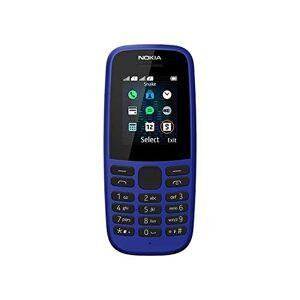 """Nokia 105 2019 Telefono Cellulare Dual Sim, Display 1.77"""" a Colori, Torcia, Blue [Italia]"""