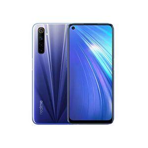realme 6 Smartphone, 4 GB + 128 GB, Fotocamera AL QUAD da 64 MP, Display Ultra Fluido a 90 Hz da 16.5 cm, Processore Helio G90T, Blu (Comet Blue)