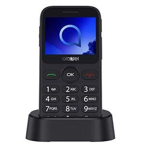 """Alcatel 20.19G Telefono Cellulare, Display 2.4"""" a colori, Tasti Grandi, Tasto SOS, Basetta di ricarica, Bluetooth, Fotocamera, Metallico Argento [Italia]"""