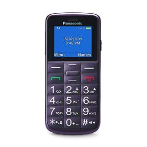Panasonic KX-TU110 Cellulare Facilitato, Ampio Display a Colori, Dual SIM, Chiamate Prioritarie a Mani Libere, Resistente agli Urti, Batteria a Lunga Durata, Viola