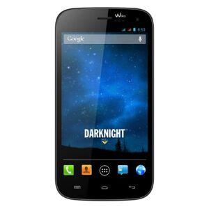 Wiko Darknight Smartphone, Dual SIM, Nero Blu