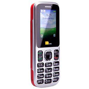 TTsims TT130 Telefono Cellulare, Dual SIM, Rosso