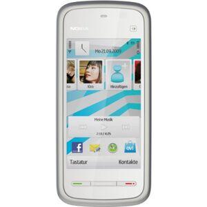 Nokia 5228 Smartphone (Display 8,1 cm (3,2 pollici), Touchscreen, Fotocamera 2 Megapixel), colore: Bianco/Blu