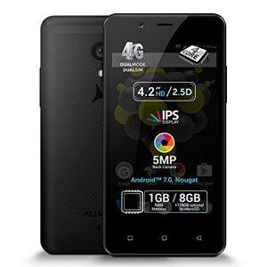 "ALLVIEW P4 PRO Black - Smartphone 4G Dual Sim, Display 4.2"" IPS, Quad Core, 1GB/8GB, Android 7.0, Nougat, 5MP"