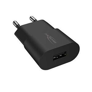 Ansmann 1 porta USB 1001-0108 - Caricatore USB con controllo intelligente di ricarica per smartphone, tablet, GoPro, e-book, ecc, colore: Nero