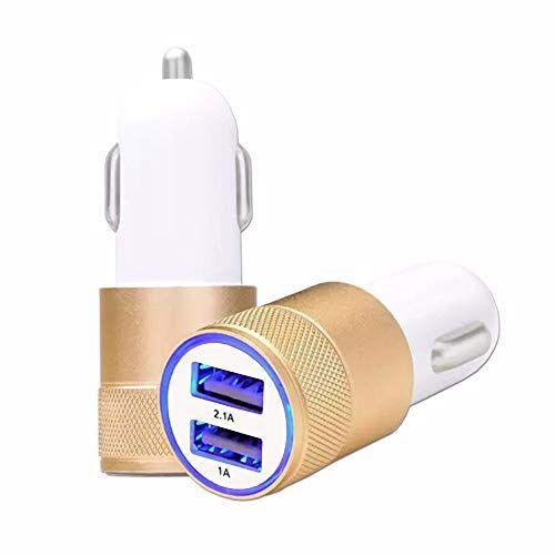sconosciuto caricabatterie da auto per samsung galaxy s5, usb, doppia porta, ultra veloce, 2 pezzi, 12/24 v
