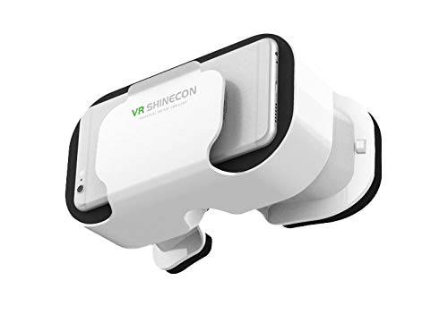 shot case casco vr 5.0 per motorola moto x play smartphone realite virtuale occhiali giochi 3d regolabile (bianco)