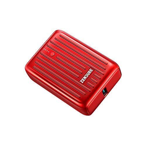 zendure supermini power bank da 10000 mah (resistente, piccolo e potente, 2 porte qc 3.0 con 18 w di ricarica rapida per iphone, ipad, android, nintendo switch, bagaglio a mano, colore: blu