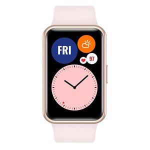 """Huawei WATCH FIT Smartwatch, Display AMOLED da 1.64"""", Animazioni Quick-Workout, Durata della Batteria 10 Giorni, 96 Modalit di Allenamento, GPS Integrato, 5ATM, Monitoraggio del Sonno, Pink"""