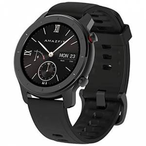 Amazfit GTR 42mm Smartwatch Sportivo GPS + Glonass, frequenza cardiaca Continua 24 Ore (Android 5.0 e iOS 10.0) Nero