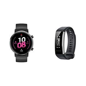 """Huawei Smartwatch Huawei Watch GT 2 (42 mm), Durata della batteria fino a 1 settimana, GPS, 15 modalit di allenamento + Huawei Band 2 Pro Smartwatch, Display da 0.91"""", Resistente all'acqua fino a 5 ATM"""