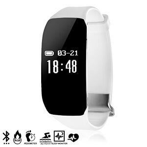 Silica DMV079WH DMV079WH - Braccialetto Intelligente Bluetooth 19 Plus Monitor Sportivo con modalit Nuoto Bianco