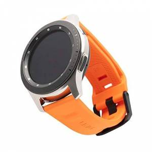 Urban Armor Gear Scout per Samsung Galaxy Watch3 45mm, Watch 46mm, Gear S3 Frontier & Classic, Watch Active 2 (44mm) - [Cinturino di ricambio in silicone morbido, chiusura in acciaio inossidabile] - a