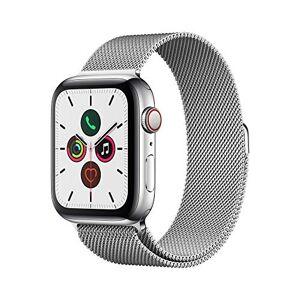 Apple Watch Series 5 (GPS+Cellular, 44 mm) Cassa in Acciaio Inossidabile e Loop in Maglia Milanese