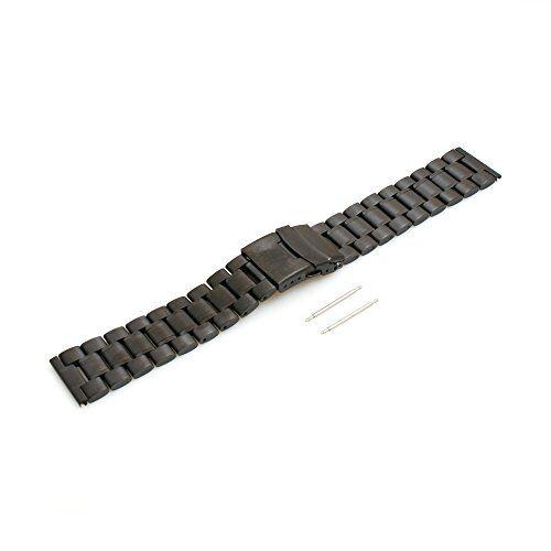 SYSTEM-S Sistema di S Acciaio Inossidabile Bracciale Ricambio Sostituzione Wrist Band 17,5cm per LG G Watch W100G R W110W150Urbane, Nero