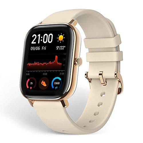 amazfit gts smartwatch, activity tracker with gps (gold)