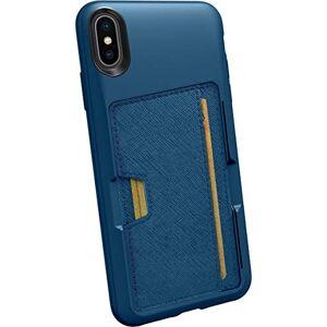 "Silk Apple iPhone Xs Max Wallet Case Custodia - Q CARD CASE [Sottile Protettivo Cavalletto CM4 Grip Cover] - ""Wallet Slayer Vol.2"" - Blue Jade"