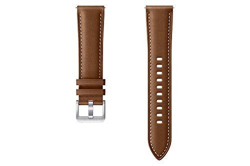 Samsung Stitch ET-SLR85 - Cinturino per Orologio da Polso per Galaxy Watch3, Larghezza 20 mm, in Vera Pelle, Colore: Marrone