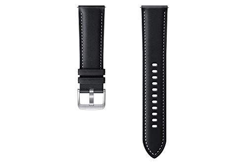 Samsung Stitch ET-SLR84 - Cinturino per Orologio da Polso per Galaxy Watch3, Larghezza 22 mm, in Vera Pelle, Colore: Nero