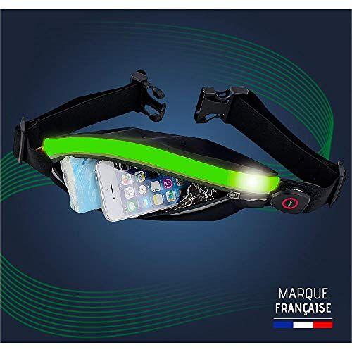 Wantalis Xtens Light - Cintura Luminosa con 1 Tasca, Colore: Verde
