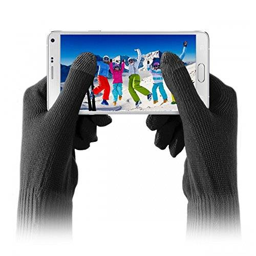 PURO touchglovesblksm Coppia di Guanti per Smartphone Taglia S/M