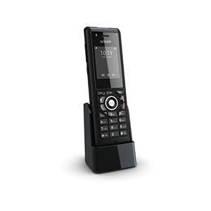 Snom M85 Telefono cordless DECT rinforzato (Tasto di allarme programmabile, funzione uomo morto, jack per cuffie da 3,5 mm) Nero