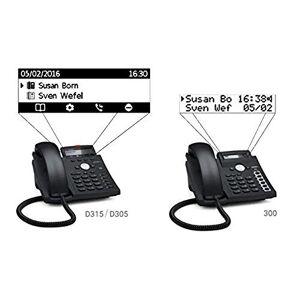Snom Desk Telephone D315 (5 Configurable Function Keys With LEDs, Sensor hook switch, Dual IPv4 / IPv6 Stack) Black