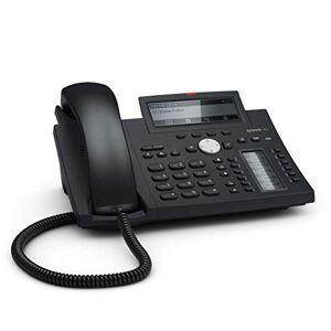 Snom Desk Telephone D345 (Display ad alta risoluzione e tasti personalizzabili) Nero