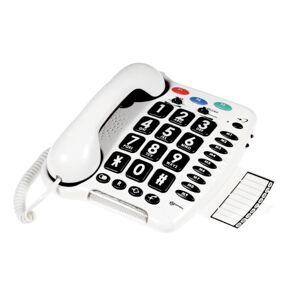 Geemarc Clearsound - CL100 - Telefono con tasti grandi - Volume +30 dB, colore: Bianco