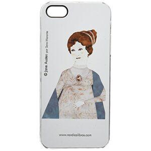 NORDICA LIBROS - Jane Austen Cover per iPhone 5/5S, colore: bianco