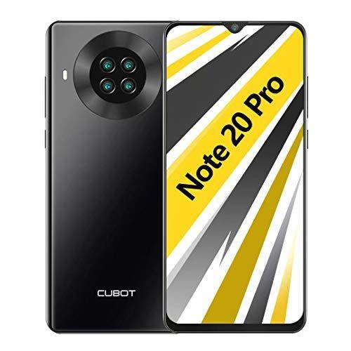 cubot note 20 pro smartphone 6.5 pollici hd 6gb ram 128gb rom 4200mah ricarica rapida android 10 quad fotocamera cellulare supporto face id, nfc, dual sim, 4g nero