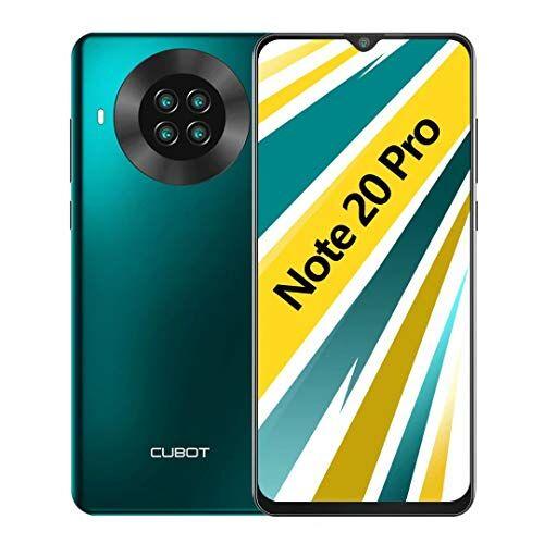 cubot note 20 pro smartphone 6.5 pollici hd 6gb ram 128gb rom 4200mah ricarica rapida android 10 quad fotocamera cellulare supporto face id, nfc, dual sim, 4g verde