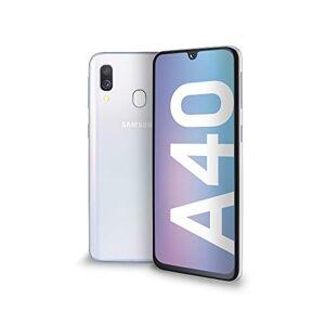 "Samsung Galaxy A40 Smartphone, Display 5.9"" Super AMOLED, 64 GB Espandibili, RAM 4 GB, Batteria 3100 mAh, 4G, Dual Sim, Android 9 Pie, [Versione Italiana], White"