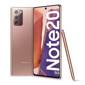 "Samsung Galaxy Note20 5G Smartphone, Display 6.7"" Super Amoled Plus Fhd+, 3 Fotocamere Posteriori, 256Gb, Ram 8Gb, Batteria 4300 Mah, Dual Sim + Esim, Android 10, Mystic Bronze"