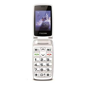 Nodis Senior SN-15 W Cellulare, Bianco [Italia]